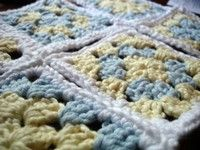 Granny Square Baby Blanket to Crochet - Free Crochet Pattern