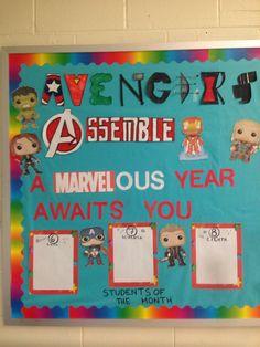 Superhero Bulletin Boards, Superhero Classroom Theme, Disney Classroom, Classroom Decor Themes, Classroom Bulletin Boards, Music Classroom, Classroom Ideas, Disney Bulletin Boards, Preschool Bulletin