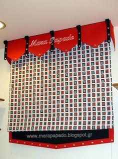 Interior design-curtains. Curtains decoration.Patterns of curtains. Mara Papado - Designer's workroom - Curtains ideas - Designs: Κουρτίνες ρόμαν - κουρτίνες πακέτα