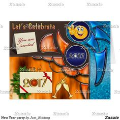 New Year party Card