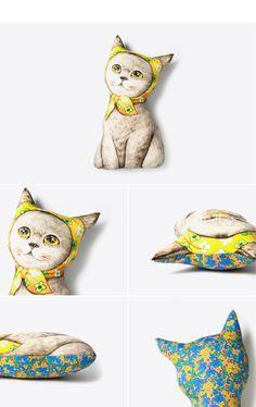 Paper doll, Cat, Persian, Himalayan, Pillow, Doll, Uncle cat, Jaesun shop, Cushion, linen, Plush, Ornament, Siam, 샴, 요크셔, 쿠션, 고양이삼촌, 종이인형, jaesun-shop.com, www.facebook.com/jaesunshop