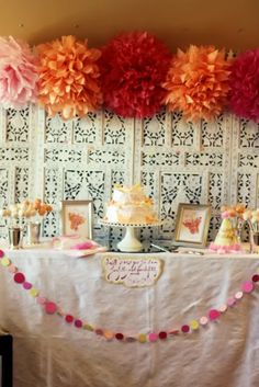 Sweet Butterfly 1st Birthday Party | | Kara's Party IdeasKara's Party Ideas