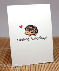 Hedgehugs by Lawn Fawn - love this set!