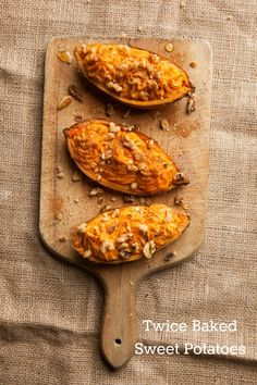 Twice Baked Sweet Potato- this sounds interesting. I will probably use regular cream cheese and sour cream instead of tofutti.
