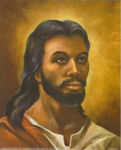 Jesus had the skin color of a physical man, but only when he was on the earth. In reality, skin color does not matter, after all Jesus is the one true Son of God. Black Jesus Pictures, Pictures Of Jesus Christ, Black Art Pictures, What Color Was Jesus, Jesus Face, African American Art, African Art, Jesus Cristo, Christian Art