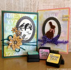 Richele Christensen: Mini Distress Ink and a GIVEAWAY!! (and tutorial on background technique)