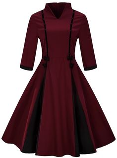 Plus Size Women Clothing Pin UP Vestidos Spring Autumn Winter Retro Casual Party Robe Rockabilly Vintage Dresses Plus Size Party Dresses, Dress Plus Size, Day Dresses, Skater Dresses, Sleeve Dresses, Vestidos Vintage, Vintage Dresses, Vestidos Rockabilly, Style Chinois