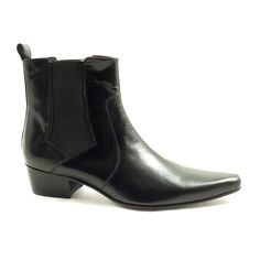 Mens black cuban heel chelsea boots crafted in fine leather. Various styles of cuban heels to boot!