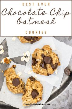 These cookies are the best of two worlds, chocolate chip cookie world and oatmeal cookie world *swoon*. If you're looking for a soft, chewy and chocolatey oatmeal cookie recipe, you've found it. Super simple to make and even easier to eat, enjoy right out of the oven or at room temperature. Plus I have all of the storing tips, including freezing these cookies (baked or unbaked). Best Chocolate Desserts, Chocolate Morsels, Mini Chocolate Chips, Vegetarian Chocolate, Oatmeal Cookie Recipes, Best Cookie Recipes, Best Dessert Recipes, Easy Summer Desserts, Fun Desserts