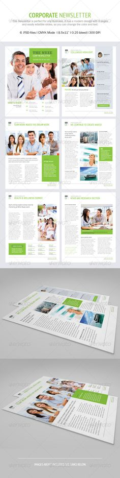 Nuze Corporate Newsletter  - Newsletters Print Templates