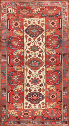Antique Persian Kurdish Bidjar Rug 47409 Main Image - By Nazmiyal