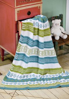 Petunia Baby Knitted Blanket pattern - looks way too intense for my basic knitting skills, but with practice ...