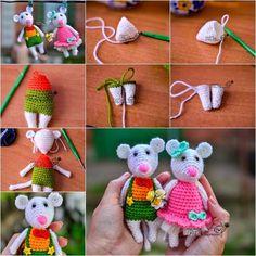 Comment tricoter de jolies souris au crochet • Quebec echantillons gratuits