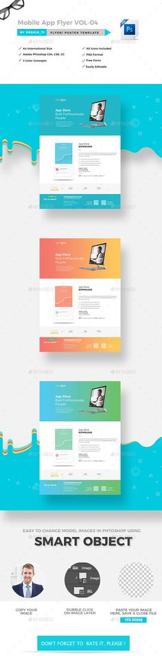 Mobile app flyer template flyer template mobile app and template mobile apps flyer vol 04 it is a professional and clean work the design has a great selection of high quality page layouts giving you a document you can fandeluxe Choice Image