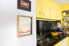 Amanda Louise Interiors Yellow Kitchen Photo by Luke Cleland Kitchen Photos, Wood Pieces, Boy Room, Craft Stores, All The Colors, Amanda, Interiors, Flooring, Crafty