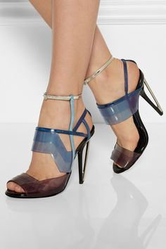 Fendi|Leather and PVC sandals