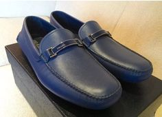 *2017* Prada Men's Blue Shoes Calzature Uomo Loafers Size 10/11 US Saffiano | Clothing, Shoes & Accessories, Men's Shoes, Casual | eBay!