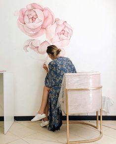 Mural Art, Wall Murals, Wall Art, Diy Wall Painting, Wall Drawing, Floral Wall, Vinyl Wall Decals, Wall Design, Home Art