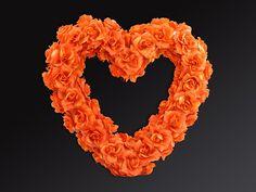 Świat-dekoracji.pl: Serce kwiatowe puste, pomarańcz, 50cm, 1szt.OPIS:S...