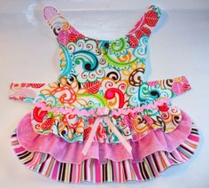 Ruffled Layer Cake DOG Dress Harness Puppy dress or small pet clothes. $25.00, via Etsy.