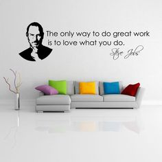 vinyl wall sticker with Steve Jobs quote - Give a touch of creativity to your home with the wall stickers