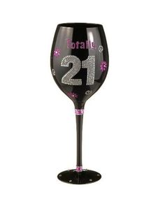 Grasslands Road Totally 21st Birthday Wine Glass