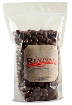 Revival Confections 2 pound bag of Chocolate Covered Raisins