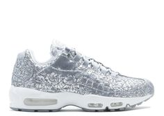 sale retailer 89f65 9f719 Promotion Nike Air Max 95 Anniversary Qs Pure Platinum Blanche Metallic  Silver 818721-001