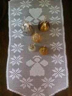 chrochet  runner Christmas Runner, Chrochet, Crochet Doilies, Decor, Crocheting, Xmas, Crochet, Decoration, Decorating
