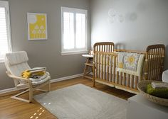 Wall color, Behr Graceful Grey. Maybe for updated craft room. [Lucy's room by carissabyers, via Flickr]