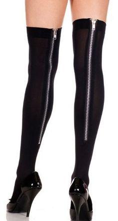 97364da4006 Black Thigh High Cyber Goth Punk Emo Ripped Stockings Socks SKU ...