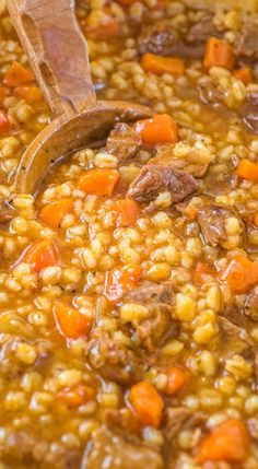 This Hearty Beef Barley Soup is a restaurant-worthy absolutely delicious easy-to-make and filling meal. Made with only 8 ingredients less than 30 minutes of active cooking time and minimal cleanup it will feed the whole family! Beef Recipes, Cooking Recipes, Healthy Recipes, Cooking Time, Family Recipes, Cooking Blogs, Barley Recipes, Healthy Sauces, Fast Recipes