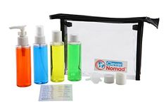 Clever Nomad Premium Airline Travel Bottles Set. TSA Approved 3oz Plastic Containers for Men and Women in a Clear Hanging Toiletry Bag. Stay Organized with Your Cosmetic Accessories Clever Nomad http://www.amazon.com/dp/B00ZW0PANK/ref=cm_sw_r_pi_dp_DuPHwb15FWHJQ