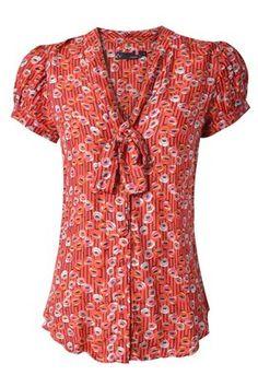 blusa de seda estampada - Buscar con Google