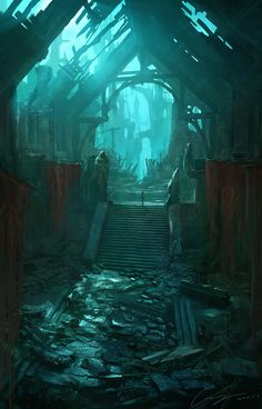 Welcome to the Mountain, leave your shoes outside! – artissimo: ruins by zhiyong li Digital Art… Welcome to the Mountain, leave your shoes outside! – artissimo: ruins by zhiyong li Digital Art… Dark Fantasy, Fantasy Concept Art, Fantasy Artwork, Fantasy Paintings, Fantasy Art Landscapes, Fantasy Landscape, Fantasy Places, Fantasy World, Dungeons And Dragons