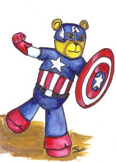 Avengers Inspired  Captain America Art Print 5 1/2 x by altworld, $4.00