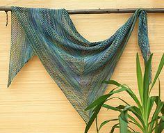 Knitted_shawl_asymmetry free pattern