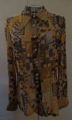 Vintage 1970s Robert Jansen blouse by Retrofanattic on Etsy