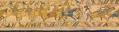 The Battle Of Hastings scene 1 - Bayeux Tapestry  The Normans charge and the Battle of Hastings has begun.