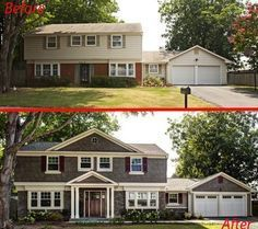 home exterior before after photos - Google Search
