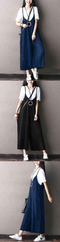 US$23.49+Free shipping. Rompers Women, Romper Outfit, Jumpsuit Outfit, Jumpsuits for Women. Color: Black, Navy. Size: M~5XL. Love style!