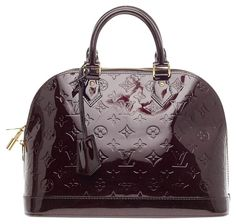 Louis Vuitton Leather Purple Satchel