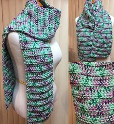 Crochet Scarf, Green Scarf, Green Chunky Scarf, Green Crochet Scarf, Crocheted Scarf, Green Knit Scarf, Winter Scarf by CozyNCuteCrochet on Etsy