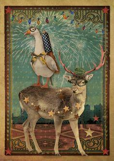Kerstkaart - Knallend Nieuwjaar