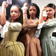 The Schuyler Sisters celebrate Women's Equality Day! #HamiltonBway proudly supports Equal Rights Amendment! #ERAnow