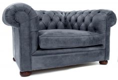 Alfie a Rustic Leather Chesterfield Armchair from Old Boot Sofas