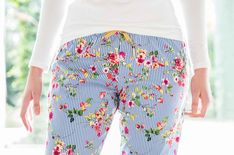 Royal blue pin stripe meets bright floral pops of colour. All in a pair of pretty PJ bottoms!