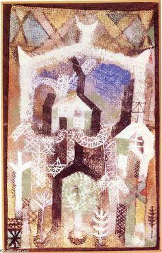 'été maisons', aquarelle de Paul Klee (1879-1940, Switzerland)
