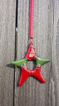 Star ornament Red & Green