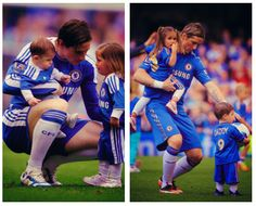 Nando and his kids. Nina is so pretty. And Leo is too cute for words.